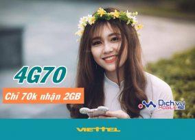 Hướng dẫn đăng ký gói cước 4G70 Viettel