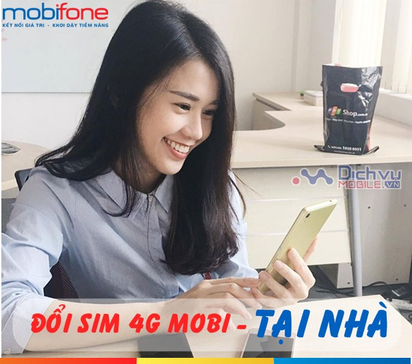 Cách đổi sim 4G Mobifone tại nhà cực nhanh