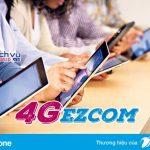 Cách đăng ký các gói cước 4G Ezcom Vinaphone cho sim 4G năm 2017