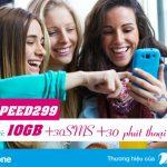 Đăng ký gói 4G SPEED299 Vinaphone nhận ưu đãi 10GB data tháng