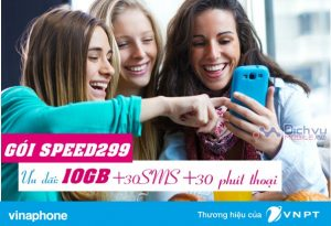 Đăng ký gói cước 4G SPEED299 Vinaphone nhận ưu đãi 10GB data/ tháng