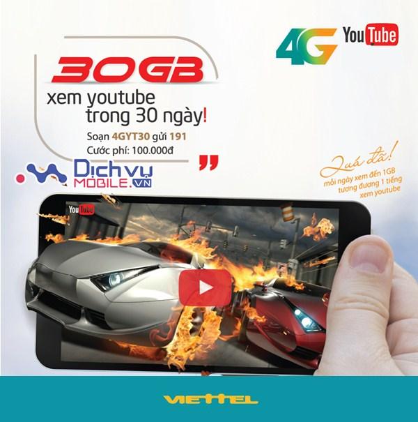 Lướt Youtube thả ga với các gói 4G Youtube mạng Viettel