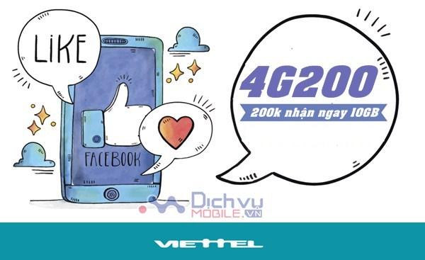 Cách đăng ký gói 4G200 mạng Viettel, nhận ưu đãi 10GB data mỗi tháng