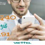 Hướng dẫn đăng ký gói 4G40 Viettel ưu đãi 1GB data 4G theo tháng