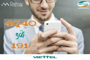 Đăng ký gói 4G40 Viettel
