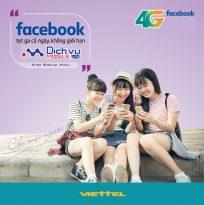 """Lướt Facebook """"Căng đét"""" với các gói 4GFB mạng Viettel"""