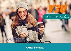 Đăng ký gói V30 Viettel tận hưởng 90 phút gọi chỉ 1000đ/ ngày