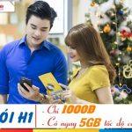 Đăng ký gói cước H1 Mobifone sử dụng 3G với 5GB data chỉ 1000đ