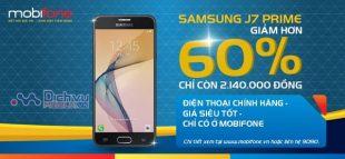 SIÊU HOT: Mobifone giảm đến 60% giá bán điện thoại samsung J7