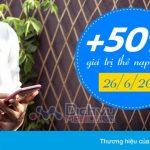 Vinaphone khuyến mãi tặng 50% giá trị nạp tiền Ezpay ngày 26/6/2017