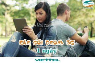 Đăng ký các gói cước dcom 3G Viettel 1 ngày