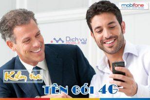 Cách kiểm tra trên gói cước 4G Mobifone đang dùng