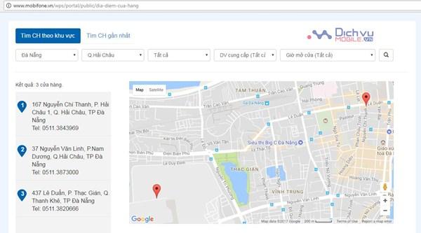 Hướng dẫn 2 cách tìm kiếm địa chỉ cửa hàng Mobifone gần nhất