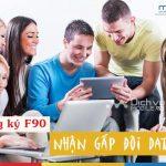 Khuyến mãi 3G Mobifone năm 2017, đăng ký F90 nhận GẤP ĐÔI data