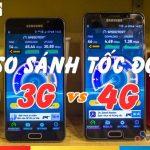 HOT: So sánh tốc độ mạng 4G Mobifone với tốc độ 3G Mobifone năm 2017