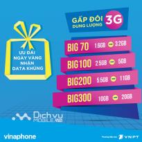 Vinaphone khuyến mãi ngày vàng Data ngày 24 và 25/6/2017