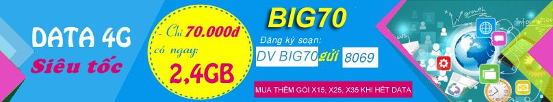 Đăng ký Big70 Vinaphone
