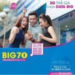 Đăng ký gói cước Big70 Vinaphone chỉ 70.000đ có 2,4 GB dùng 3G/4G trong tháng