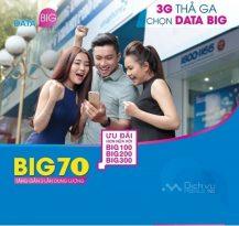 Đăng ký các gói cước Big Data Vinaphone sử dụng 3G/4G với data khủng