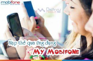 Nạp thẻ qua ứng dụng My Mobifone