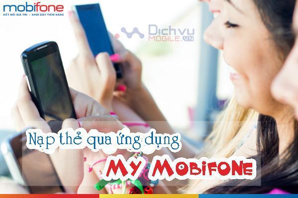 huong dan nap the qua ung dung my mobifone