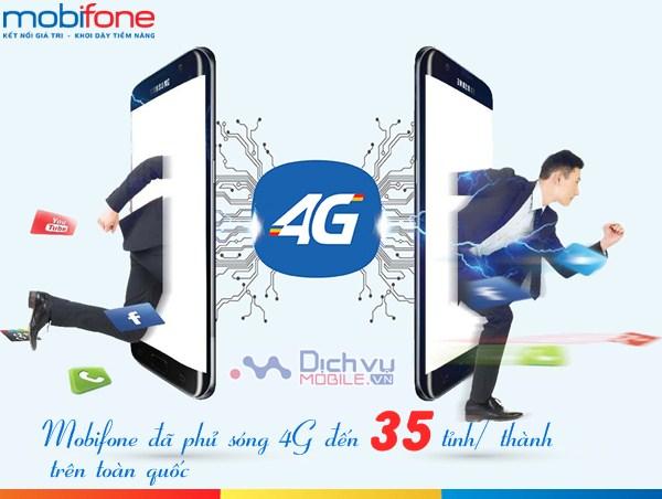 SIÊU HOT: Mobifone đã chính thức phủ sóng 4G tại 35 tỉnh thành trên toàn quốc