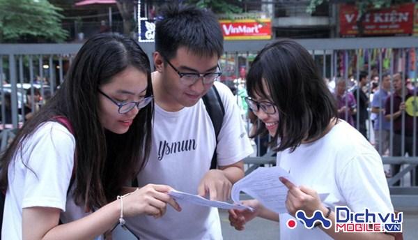 Mobifone, Vinaphone sẽ nhắn tin thông báo kết quả thi THPT Quốc gia 2017 đến các thí sinh