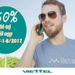 Viettel khuyến mãi tặng 50% thẻ nạp 2 ngày vàng liên tiếp 31/7- 1/8/2017