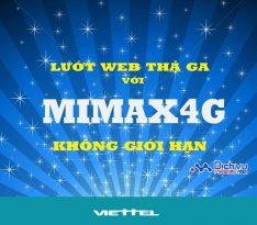 Lướt 4G tẹt ga không phí phát sinh với gói Mimax4G mạng Viettel