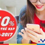 Mobifone khuyến mãi 50% giá trị thẻ nạp vào ngày 25/8/2017