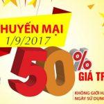 Mừng 2/9: Viettel khuyến mãi 50% giá trị thẻ nạp ngày 1/9/2017