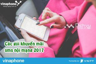 Các gói cước khuyến mãi nhắn tin nội mạng Vinaphone
