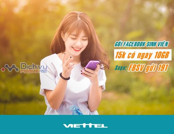Hướng dẫn đăng ký gói Facebook sinh viên mạng Viettel