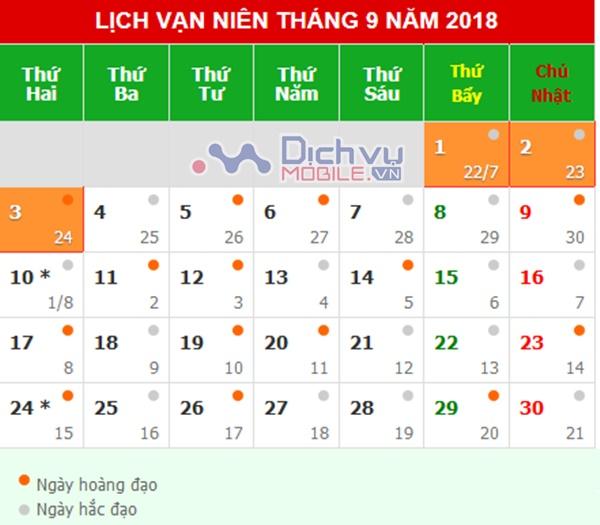 Lịch nghỉ lễ Quốc khánh 2/9 cho nhân viên, công chức toàn quốc 2018
