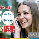 Khuyến mãi tặng 50% thẻ nạp Mobifone ngày 11/8/2017 toàn quốc