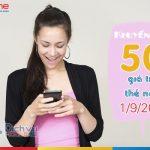Mobifone khuyến mãi 50% thẻ nạp toàn quốc ngày 1/9/2017