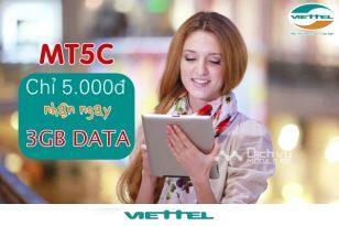Cách đăng ký gói MT5C Viettel dùng data 1 ngày