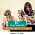 Đăng ký gói cước TD7 Viettel nhận ngay ưu đãi 5GB data 3G, 4G tốc độ cao