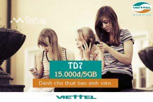 Đăng ký gói TD7 Viettel nhận ưu đãi 5GB data tốc độ cao