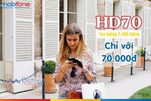 Hướng dẫn đăng ký gói cước 4G HD70 Mobifone