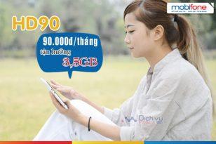 Hướng dẫn đăng ký gói cước 4G HD90 Mobifone
