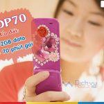 Đăng ký gói cước HDP70 Mobifone có ngay 2GB data và 70 phút gọi
