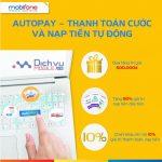 Mobifone KM 50% giá trị thẻ nạp qua dịch vụ AutoPay