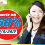 Mobifone khuyến mãi tặng 50% giá trị thẻ nạp ngày 19/9/2017