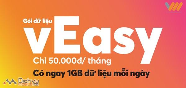 Đăng ký gói vEsy Vietnamobile tặng tiền và dung lượng lên đến 30GB