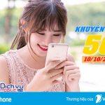 Vinaphone khuyến mãi 50% giá trị thẻ nạp ngày vàng 10/10/2017