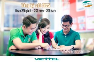 Hướng dẫn cách đăng ký gói SV25 Viettel