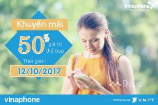 vinaphone khuyen mai the nap ngay 12102017
