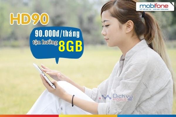 Cách đăng ký gói cước HD90 Mobifone ưu đãi đến 8GB data 4G dùng theo tháng