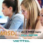 Đăng ký gói cước MI5D Viettel ưu đãi 500MB data 3G/4G dùng 1 ngày